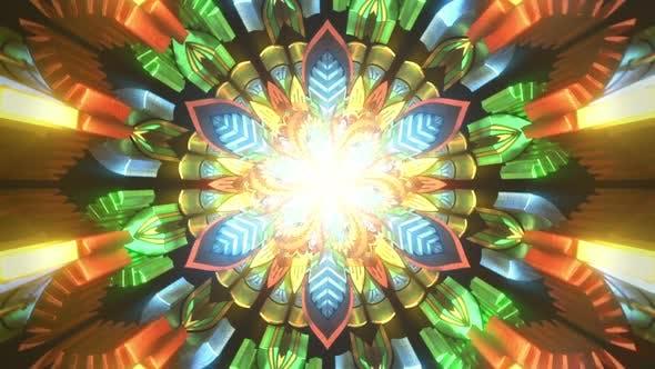 Spirituelle Meditation 3D Nahtlose Schleife Der Trippy Trance Zustandsmeditation Visuelle Hintergrund-Illusion