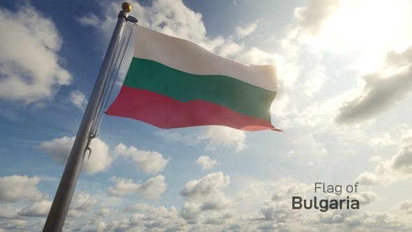 Bulgaria Flag on a Flagpole
