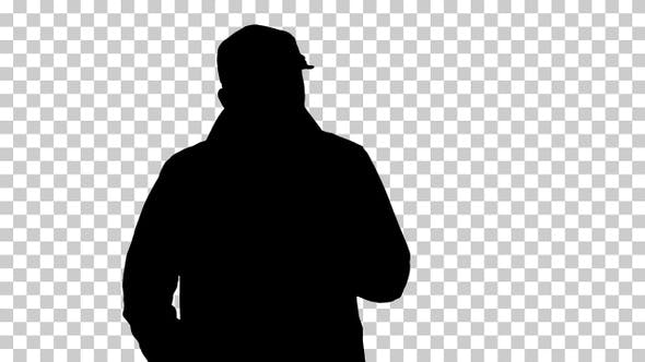 Thumbnail for Silhouette A man, Alpha Channel