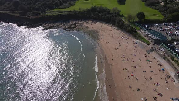 Thumbnail for Aerial Shot Flying Over a Beach