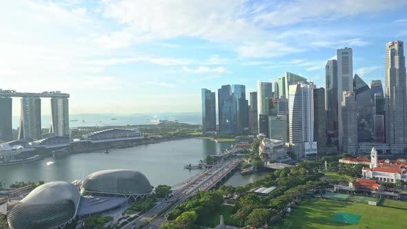 Time lapse of Building in Singapore city