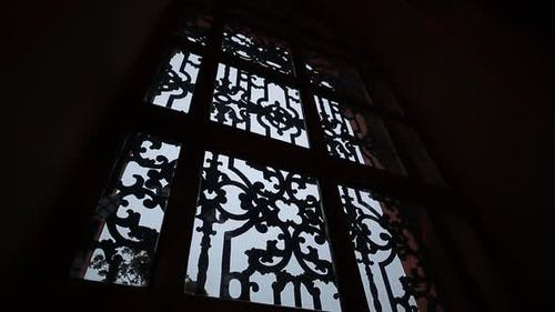 Osmanische Moschee im alten Fenster