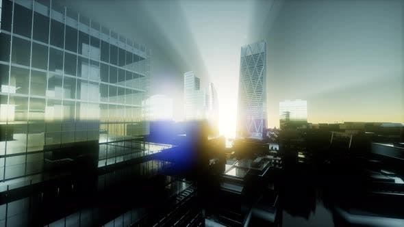 Thumbnail for Concept of London City at Sunset