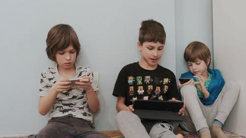 Boys Play Video Games.