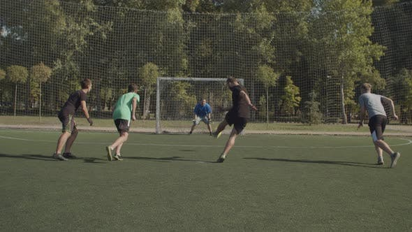 Thumbnail for Football Striker Missing Penalty Kick During Game