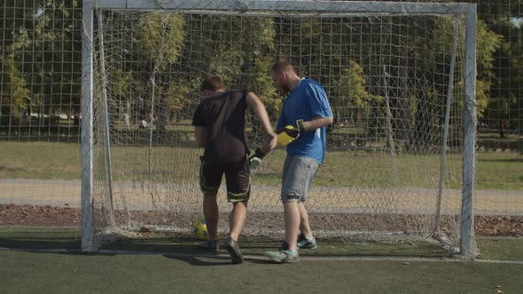 Thumbnail for Soccer Player Scoring a Goal During Football Match