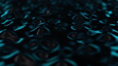 Animation of waves and ripples in black oil