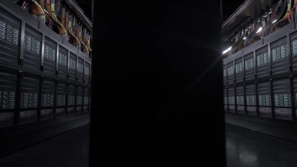 Thumbnail for Digital Server Room Loop Background