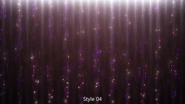 Particles Waterfalls