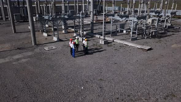 Thumbnail for Group of Engineers on Transformer Platform of Station