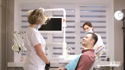 A person who treats teeth examined by a dentist, healthy teeth