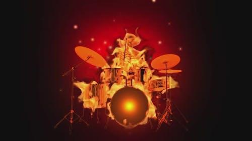 Skeleton Fiery Drums Show