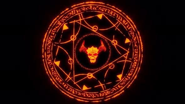 Demon Sign Symbol VJ Loop