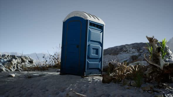 Thumbnail for Portable Mobile Toilet in the Beach