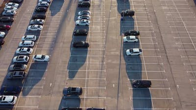 Car Trade Lot Aerial