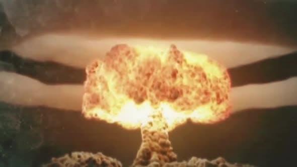 Atomexplosion und ihre Folgen