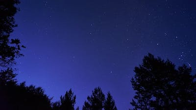 The night sky turns into a clear morning