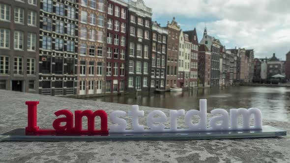 Thumbnail for Timelapse of City and I Amsterdam Slogan