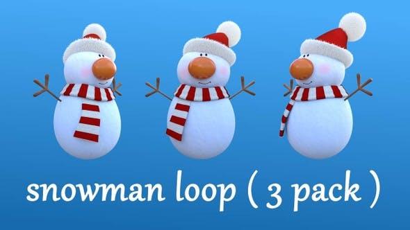 Snowman Loop ( 3 Pack )