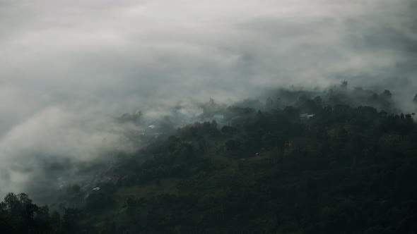 Thumbnail for Fog Covered Village In Mountain