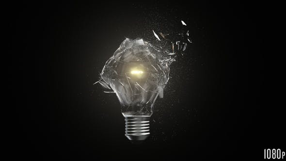 Thumbnail for Isolated Lightbulb Shattered