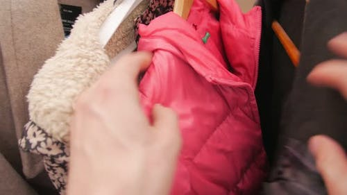 Hangers Clothes In Second Hand