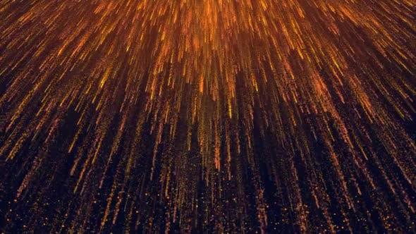 Gold Particles Rain Loop
