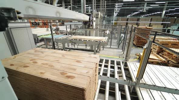 Prozess der Herstellung von Holzbrettern