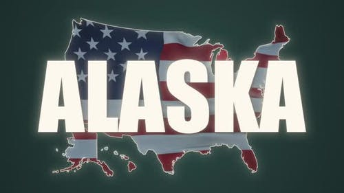 Map Showing the State of Alaska From the United State of America