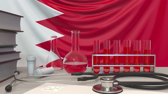 Clinic Laboratory Equipment and Flag of Bahrain