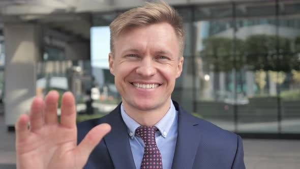 Thumbnail for Hello, welcoming Businessman Outside Office