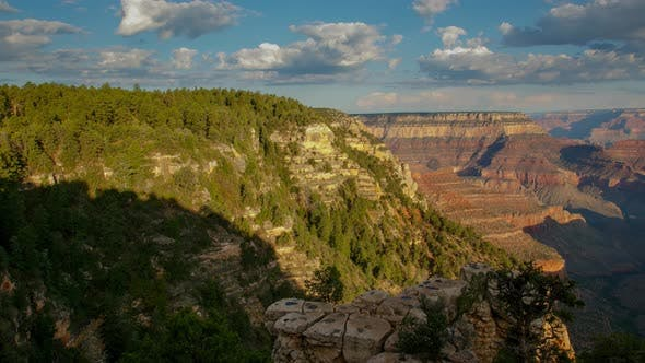 Thumbnail for Time lapse of the clouds moving above the amazing Grand Canyon