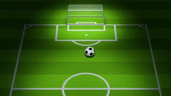 Animation of shooting football in the field