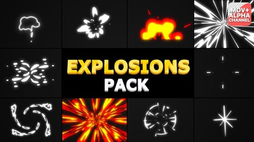 Cartoon Explosions Pack   Motion Graphics