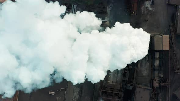 Thumbnail for Aerial View Industry Pipe Pollute the Atmosphere With Smoke