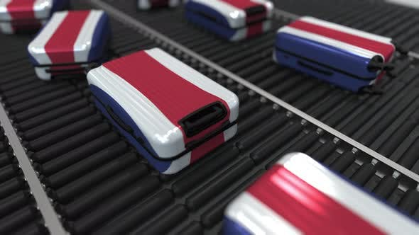 Thumbnail for Many Suitcases Featuring Flag of Costa Rica