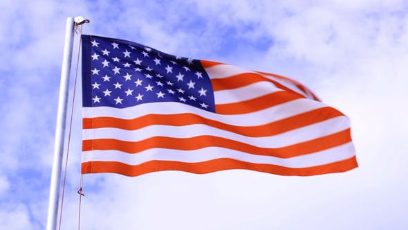USA Flag Waving In The Wind by Grey_Coast_Media on Envato Elements