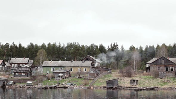 Thumbnail for Old Village Houses On The River