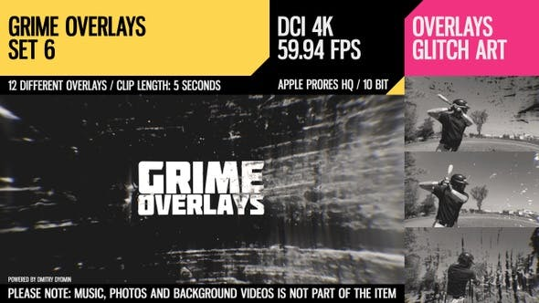 Grime Overlays (4K Set 6)