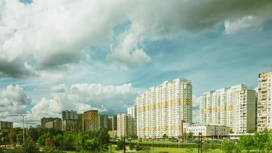 Thumbnail for Rain Clouds Movement Over a Sleeping Area in Moscow