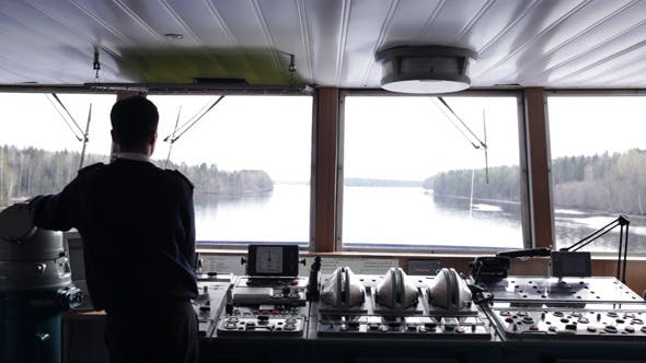 Thumbnail for Navigation Officer Driving The Ship