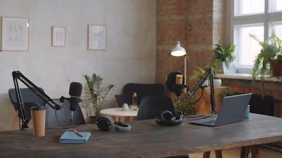 Interior of Podcast Recording Studio