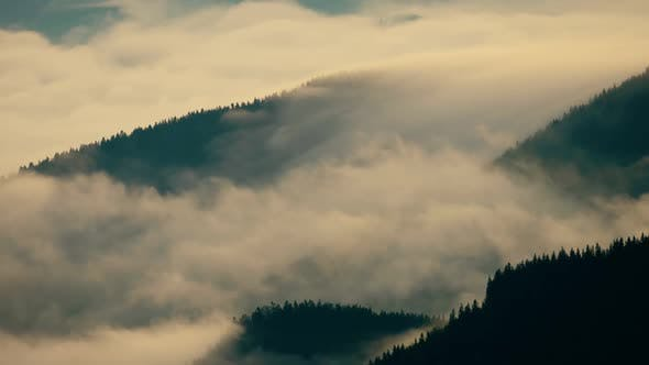 Clouds Foggy Timelapse Sunrise Mountain Nature Valley Hill