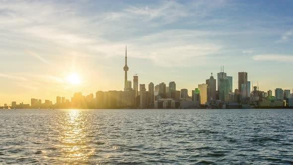 Toronto, Canada - Timelapse  - The Skyline at Sunset