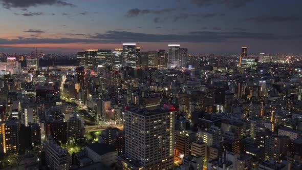 Thumbnail for Night Time Lapse Tokyo Japan Cityscape