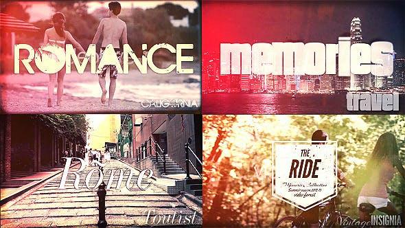 Thumbnail for Travel Memories, Typography Slideshow