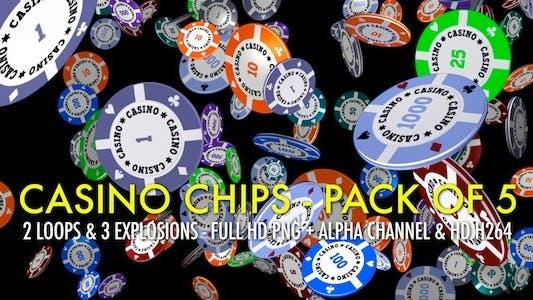 Thumbnail for Casino Chips - Falling, Flying, Exploding (5-Pack)