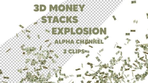 Money Stacks Explosion