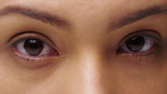 Closeup of Mexican woman's beautiful eyes