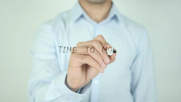 Zeit zum Verschieben, Schreiben auf dem Bildschirm
